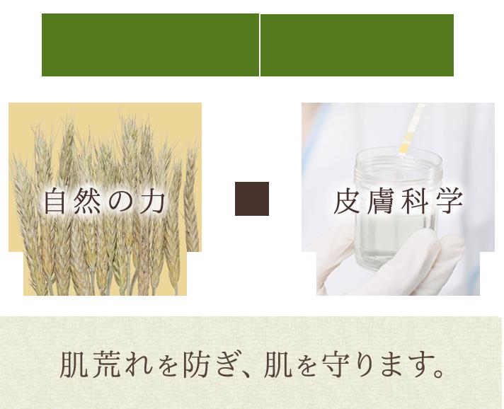 皮膚科学をもとに、厳選された 自然成分で健やかな肌に保ちます。自然の力皮膚科学肌荒れを防ぎ、肌を守ります。