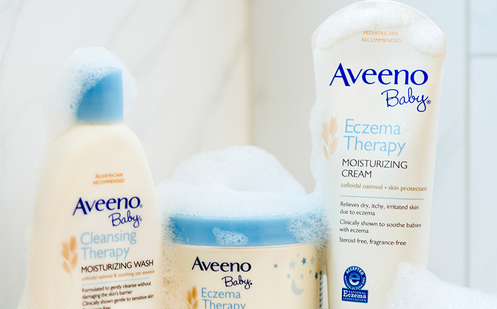 baby eczema lotion and product collection from aveeno